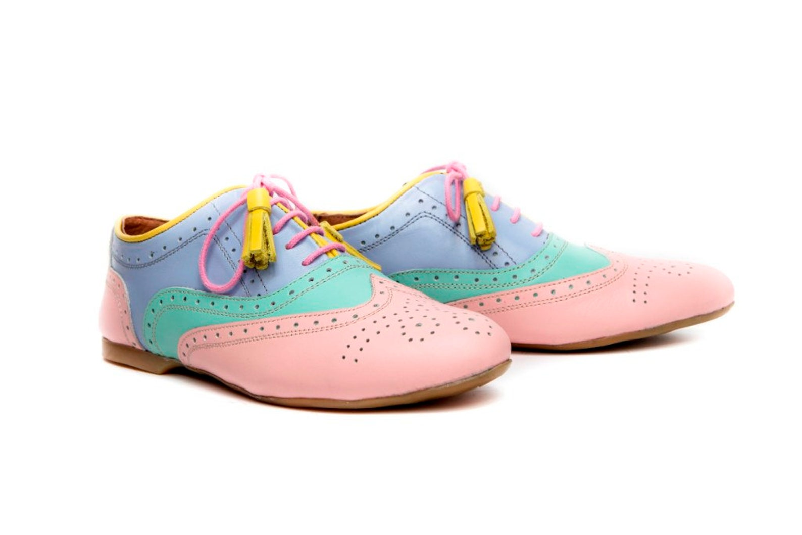women's oxford shoes, ballet flats, leather ballet flats, handmade women's flats, pink shoes, mint shoes, blue shoes, ba