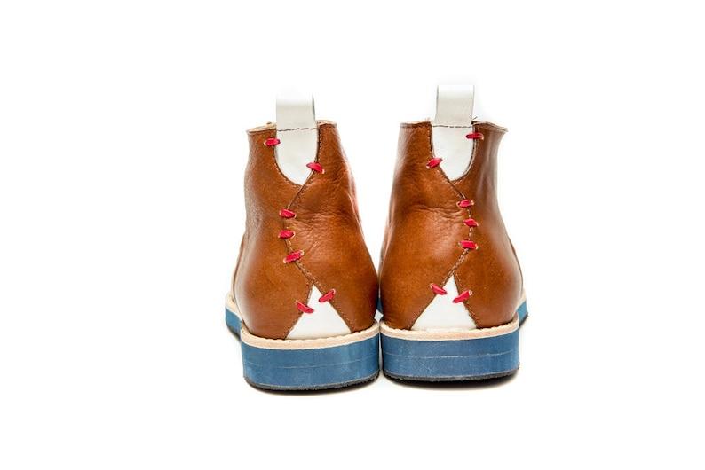 Scarpe fatte a mano da uomo's Brown/Leather allacciamento oRC39bD8