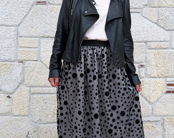 Extravagant Skirt/High Waisted Skirt / Party Skirt/Midi skirt/Designers Skirt