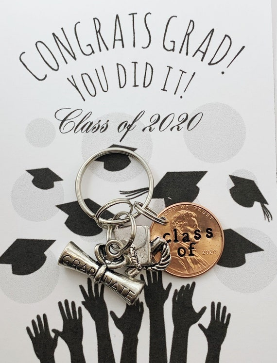 2019 Penny Charm keychain College Graduation Class of 2021 penny graduation gift penny keychain Senior Gifts for graduation high school
