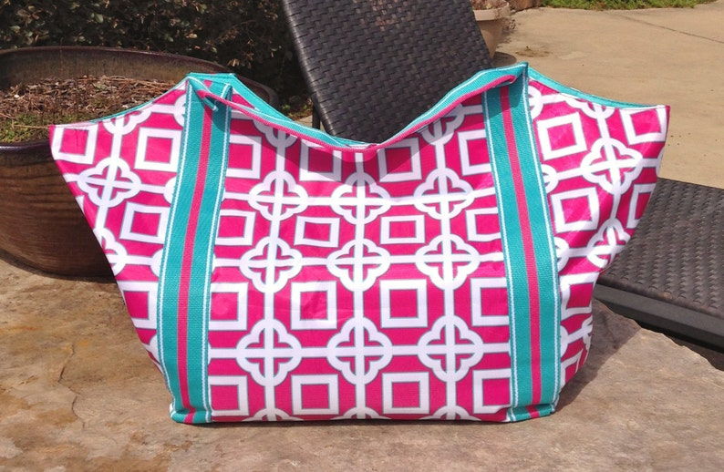 1733a7a855f Pink Charmer Beach Tote, Gym Bag, Grocery Bag, or Carry-All!!!