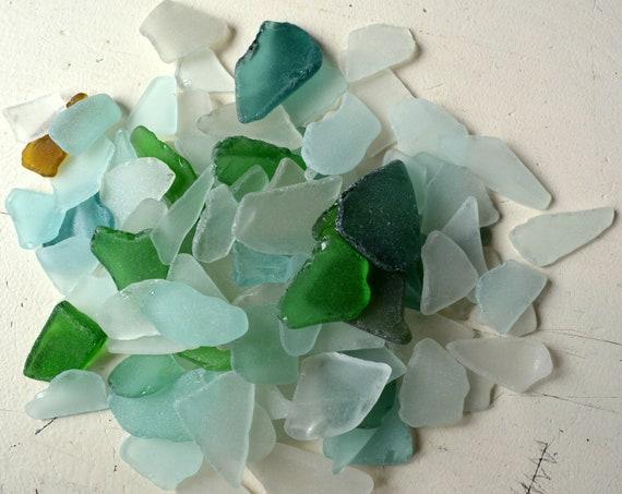 Sea Glass Necks of Bottles Mosaic Jewelry Supply Genuine Beach Glass Canadian Seaglass Art Jewelry Supply