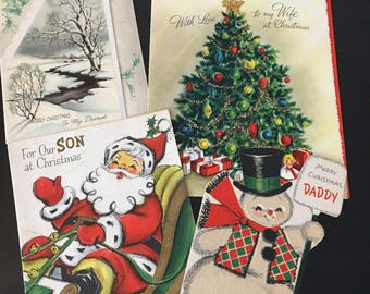 Vintage christmas cards etsy lot of vintage christmas cards m4hsunfo
