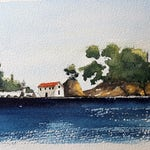 Parga in Greece, part of my holiday sketching series