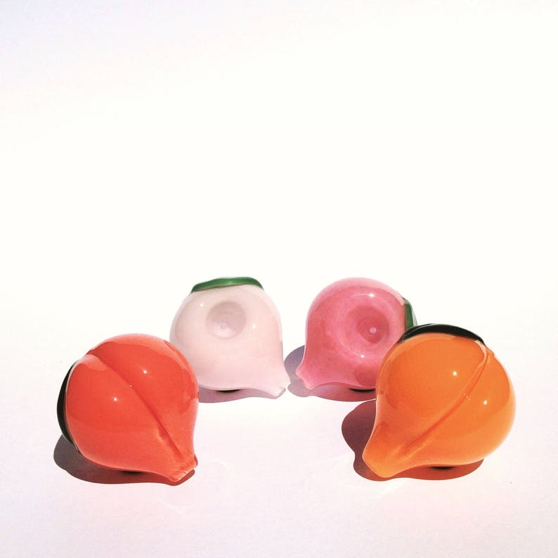 c9b08e16dc99 Cute Peach-shaped Glass Pipe in 4 Peachy Colors  A Unique Smoking Bowl and  Fun S... Cute Peach-shaped Glass Pipe in 4 Peachy Colors  A Unique Smoking  Bowl ...