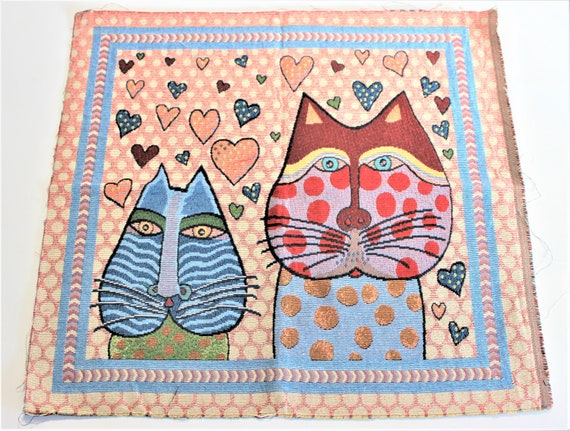 Cushion 100/% cotton 40 x 40 cm printed cats REF cat DUO patchwork fabric