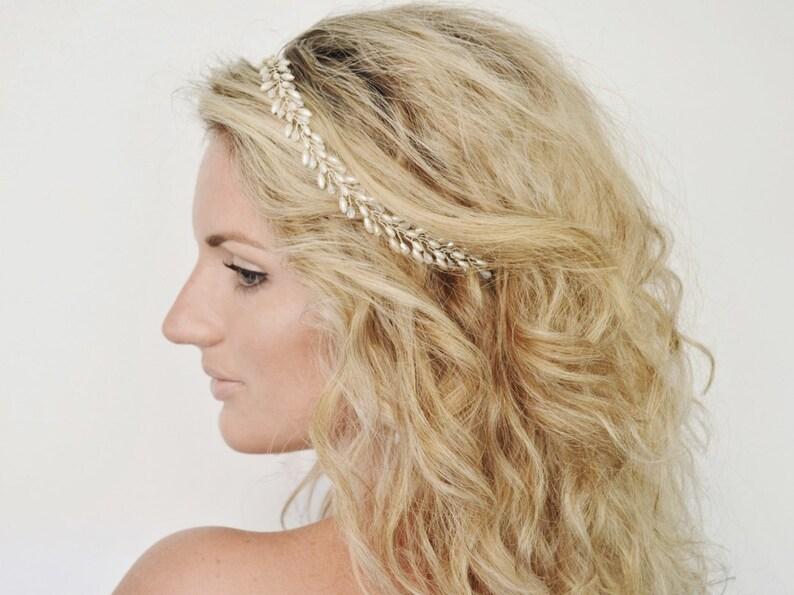 Wedding Wreath Bridal Headpiece Bridal Hair Halo Wedding Hair Vine Wedding Hair Piece Bridal Headband Grecian Bridal Hair Piece