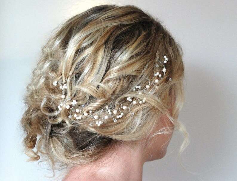 Pearl Crystal Hair Vine,Wedding Hair Accessories,