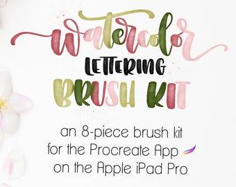 Procreate Brushes | Watercolor Lettering Brush Kit | Procreate Watercolor Brushes | Procreate Bundle | Digital Brush | Procreate Brush
