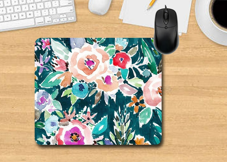 Water Color Mouse Pad. Personalized Mouse Pad. Monogram Mouse image 0