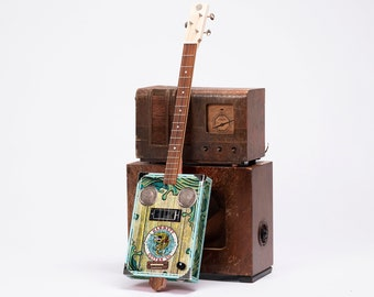 D+H Guitar Co. 'Catfish Po' Boy' Cigar Box Guitar 4 String