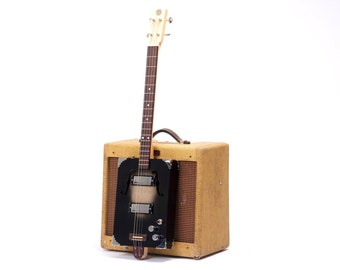 D+H Guitar Co. 'Black Jack' Cigar Box Guitar 4 String w/ P90 pickup