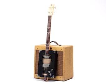 D+H Guitar Co. 'Black Jack' Cigar Box Guitar 4 String, Mini Humbucker