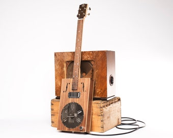Drummond & Hammett Resophonic Cigar Box Guitar 3 String