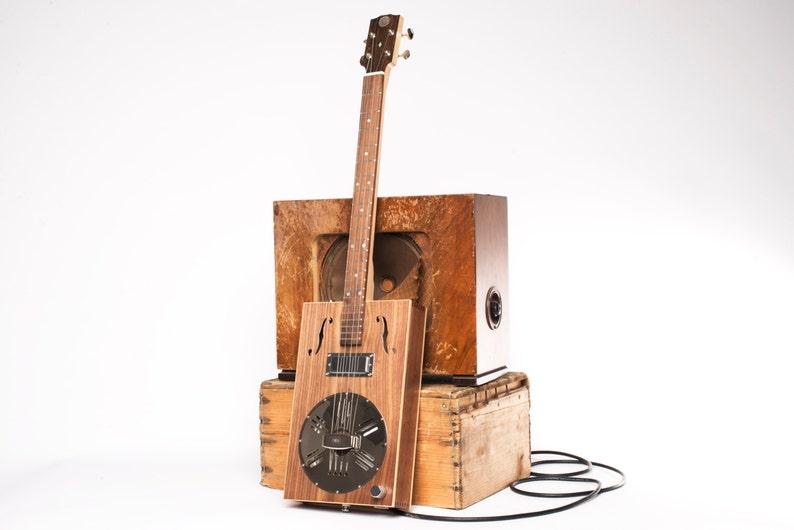 DH Guitar Co. Resophonic Cigar Box Guitar 3 String image 0