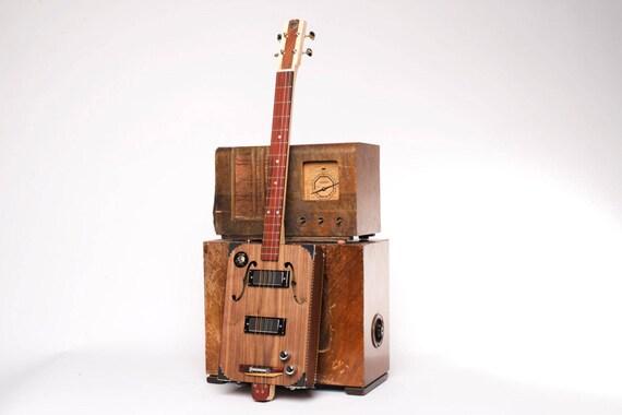 Drummond Hammett Black Walnut Jack Cigar Box Guitar 3 Etsy