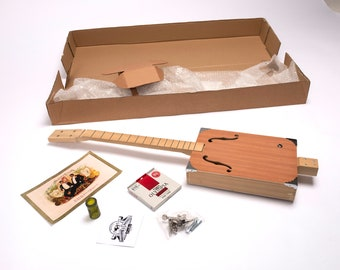 D+H Guitar Co. DIY 'Build Your Own' 4 String Cigar Box Guitar Kit (Basic Kit)