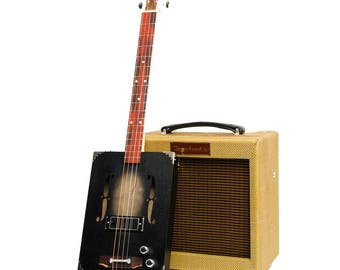 Drummond & Hammett 'Black Jack' Cigar Box Guitar 3 String, P90 pickup