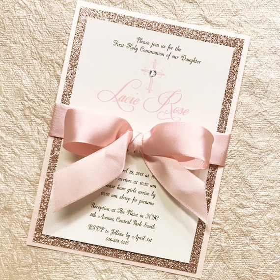 Blush And Rose Gold Quinceanera Invitation Sweet 16 Invitation Etsy
