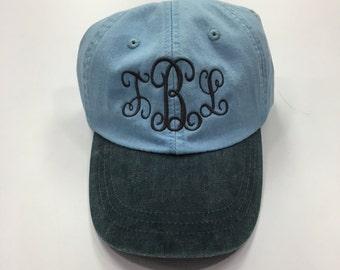 Monogrammed Baseball hat, Custom hat, personalized hat