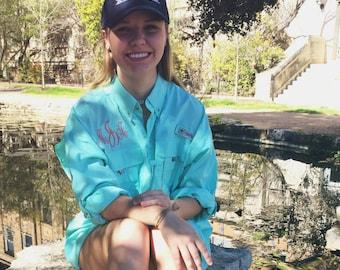 Custom Monogrammed Columbia Fishing Shirt