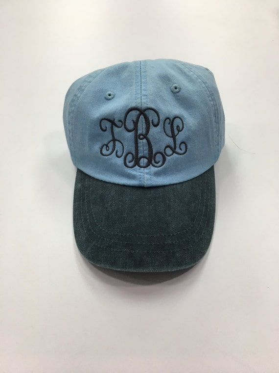 Monogrammed Baseball hat Custom hat personalized hat  f88fbab1ba15