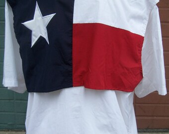 Custom Monogrammed Texas Flag Fishing Shirt