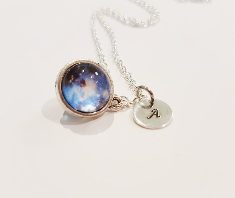 1fcca21b79996a Tiny Glass Orb Galaxy Nebula Necklace with Sterling Silver | Etsy