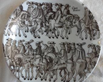 western germany ashtray with conti diversi men on horseback