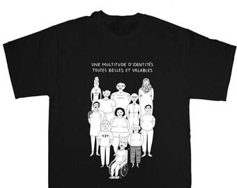 Identités variées - T-shirt sérigraphié noir