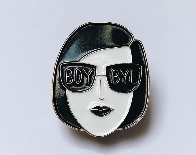 Image de l'article à la une: Boy Bye - Épinglette émaillée - Soft enamel pins