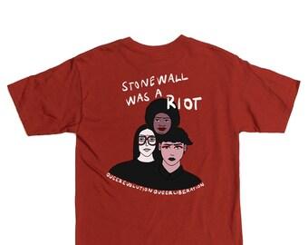 Stonewall was a riot - T-shirt sérigraphié en couleurs - PRÉCOMMANDE