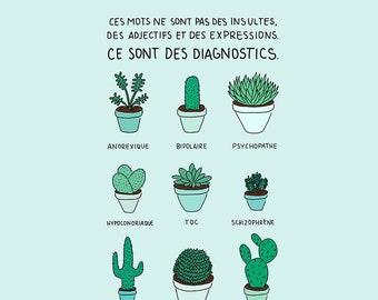 Cactus santé mentale - Impression A4