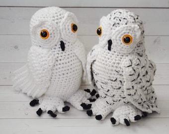 Crochet Owl PDF Pattern - Snowy Owl - white snow owl  - Amigurumi Owl pattern - Stuffed crochet toy - hoot hoot -