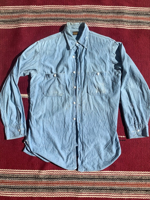 1930s 1940s Chambray Shirt