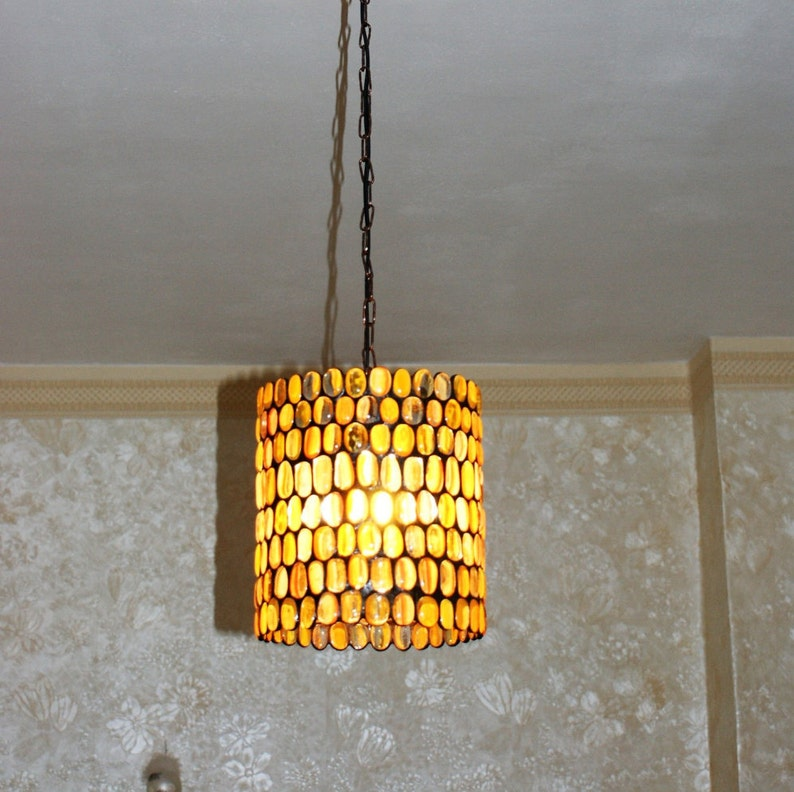Stained Glass Hanging Lamp.Amber Stained Glass Hanging Lamp Stained Glass Hanging Lampshade Tiffany Lamp