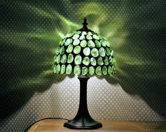 Green Stained Glass Lamp, Tiffany Lamp
