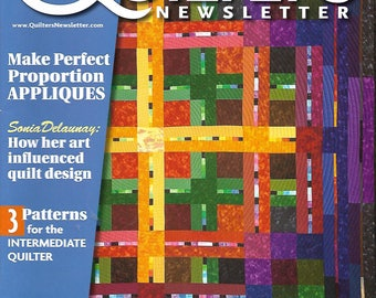Quilter's Newsletter April/May 2015 - Applique, Foundation Piecing, And More