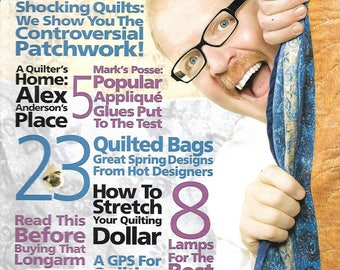 Quilter's Home Magazine with Mark Lipinski - March 2009 - Patterns, Recipes, and more