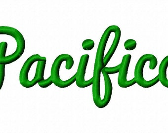 Pacifico Machine Embroidery Fonts  2073
