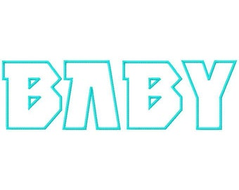 Baby Machine Applique Embroidery Fonts  1624