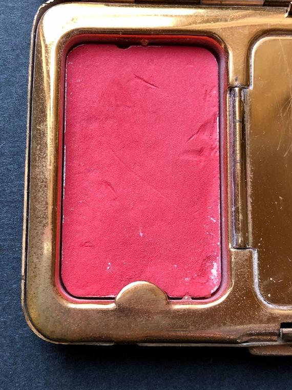Richard Hudnut Compact/ Cream & Burgundy Art Deco… - image 7