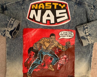 Nipsey Hussle Denim Jacket / RIP Nipsey / Custom Hand Painted   Etsy