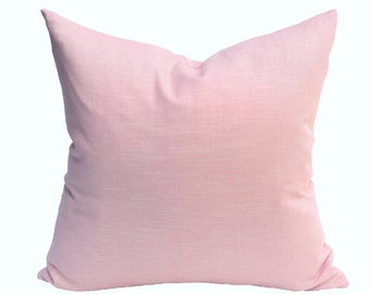 Blush Pink Linen designer pillow covers - Made to Order
