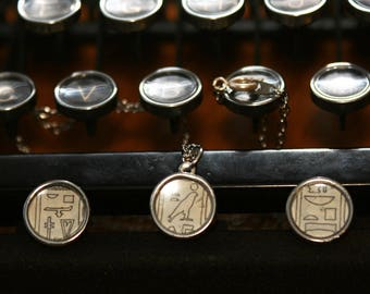 Hieroglyphics Earrings and Necklace Set