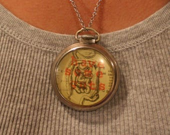 Have Some Guts Pocket Watch Necklace