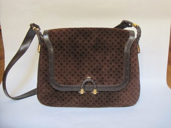 GUCCI vintage GG shoulder bag / 1970s Gucci brown