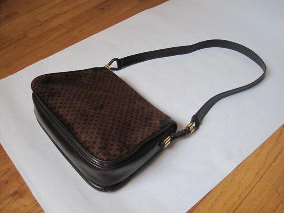 GUCCI vintage GG shoulder bag / 1970s Gucci brown… - image 7