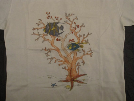 Gucci vintage T-shirt / coral reef printed white … - image 2