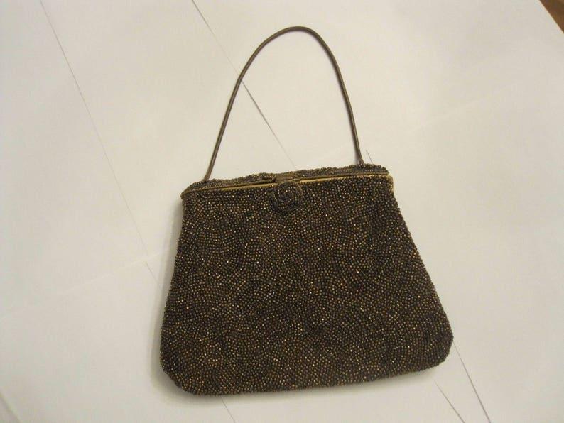 a94442251ea GUCCI vintage gold beaded evening clutch bag   Gucci bag 1950s
